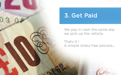 Midland Car Removals pay in cash the same day we pick up your car